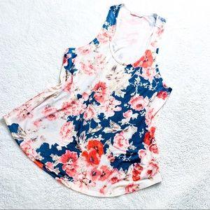 Floral Sleeveless Tank Top